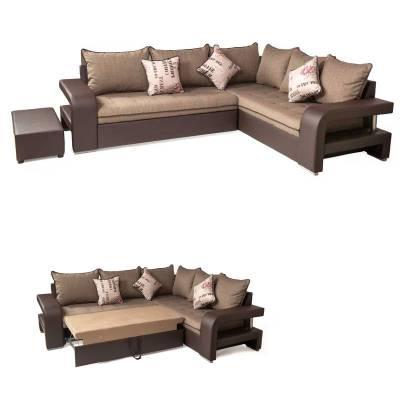 Γωνιακός Kαναπές Κρεβάτι Katherine Δεξιά+Δώρο Σκαμπό 296×216 εκ