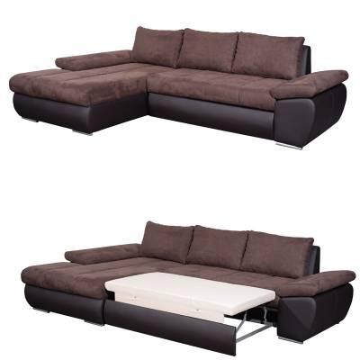 Γωνιακός Καναπές Κρεβάτι Omega Αριστερά 260×172 εκ