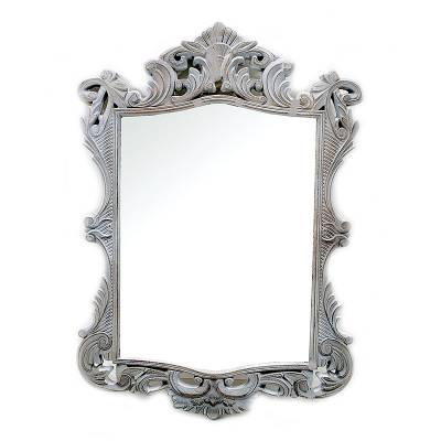 Ξύλινος καθρέπτης γκρι